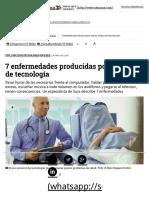 7 Enfermedades Producidas Por El Exceso de Tecnología