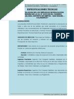 Especificaciones Tecnicas Callualoma