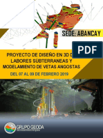 Diseño y Modelamiento Subterráneo - Abancay Del 07 Al 08 Febrero