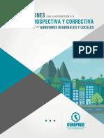 Orientaciones para la Gestion Prospectiva y Correctiva en la Gestion de Riesgo