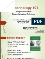 Biotechnology 101 a Beginner's Guide to Modern Agricultural Techniques