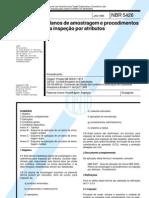 NBR 5426 Nb 309-01 - Planos de em E Procedimentos Na Inspecao Por Atributos