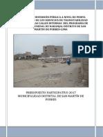 PIP MEJORAMIENTO DEL SERVICIO DE TRANSITABILIDAD VEHICULAR Y PEATONAL ROSEDAL ok DTRO2016.docx