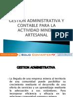 Gestion Administrativa y Contable Para La Actividad Minera