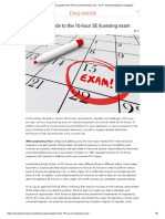 A practical guide to the 16-hour SE licensing exam - Civil + Structural Engineer magazine