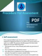 Procedure for Assesment