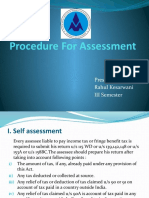 Procedure for Assesment