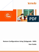 N301V2.0-TDE01-Restore Configurations Using TpUpgrade User Guide