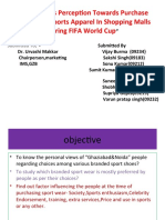 Consumers Perception Towards Purchase of Branded Sports