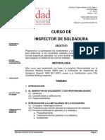 Curso de Inspector de Soldadura