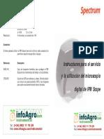 Instrucciones Microscopio Digital Hojas Plantas Insectos Ipmscope
