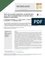 Efecto de la acetona cianohidrina en ratas
