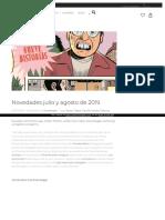 Lacupula Novedades Julio y Agosto de 2019