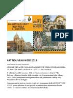 Programma in Versilia - ART NOUVEAU WEEK 2019