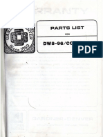 G.D 800 Parts List Ref. Only