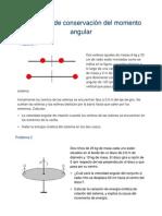 Problemas de conservación del momento angular