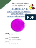 Informe 4 COLIFORMES y Algo Mas