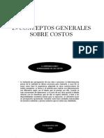 1.- Conceptos Generales Sobre Costos
