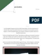 """Detergente """"Casero"""" Para Lavadora – Creatividad en Tiempo de Crisis"""