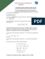 Geometría Analítica de La Recta en El Plano 1