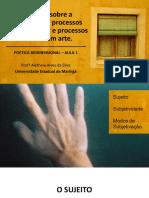 Aula 1 - Questões sobre a subjetivação PB.pptx