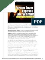 Former Lover Exposes Eric Schmidt, DARPA, Google