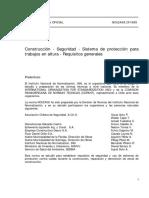 Construcción - Seguridad - Sistema de Protección Para Trabajos en Altura - Requisitos Generales