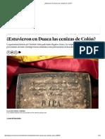 ¿Estuvieron en Duaca Las Cenizas de Colón