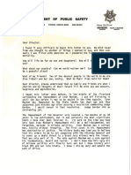 DPS Time Capsule Letter Dated 4-7-1988 From Director Ralph T Milstead