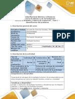 Guía de Actividades y Rubrica de Evaluación - Fase 1 - Identificación Del Problema