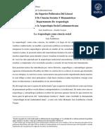 Ensayo de Arqueología Social Latinoamericana por Daniel Rivas - Espol