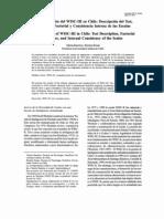 Ramirez y Rosas Estandarizacion Del WISC-III en Chile