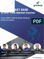 Schedule for Xii NeeT 2020 Step Up COURSE
