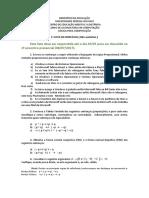 05 - 1ª Lista de Exercícios Não Avaliativa - Lógica Para Computação - EAD UFPI 2017 1