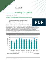 Securities Lending Revenue Update q 2