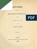 Acosta-Bibliografia Peridistica Pacena(1876)