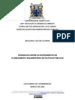 Gecileno L. de Oliveira - Integração Entre Os Intrumentos de Planejamento (2006, Monografia)