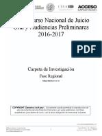 Carpeta de Investigacion Regional Secuestro III