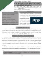 Manual para a pesquisa de campo