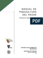 Manual de Piscicultura Del Paiche