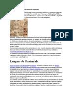 Origen de La Dramática de Los Idiomas de Guatemala