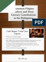 Prominent FIlipino Authors