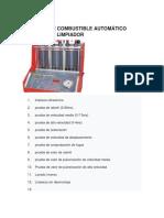 Inyector de Combustible Automático Probador y Limpiador