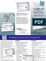GradeCard® Supplier Performance Management System
