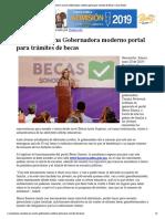 20-06-19 - CANAL SONORA - Pone en marcha Gobernadora moderno portal para trámites de becas _ Canal Sonora