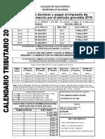 Calendariotributario2019 VILLAVICENCIO