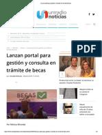 20-06-19 - UNIRADIO NOTICIAS - Lanzan portal para gestión y consulta en trámite de becas
