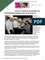 20-06-19 - CANAL SONORA - Atiende Secretario de Gobierno necesidades de comunidades indígenas del sur de Sonora _ Canal Sonora