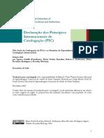 Declaração Dos Princípios Internacionais de Catalogação