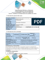 Guía de Actividades y Rúbrica de Evaluación-Tarea 6- Realizar La Interpretacion de Analisis de Suelos